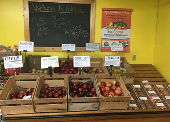 Allen's Orchard in Marion, Iowa has over 30 varieties of apples